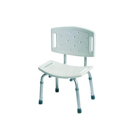 Krzesło prysznicowe z oparciem aluminiowe