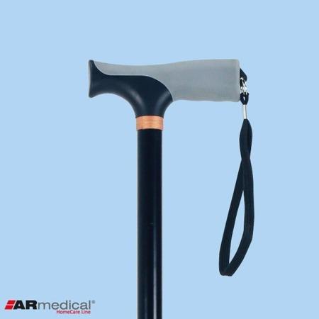 Laska inwalidzka aluminiowa z miękkim uchwytem
