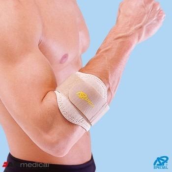 Stabilizator łokcia tenisisty neoprenowy CoolMax z poduszką silikonową