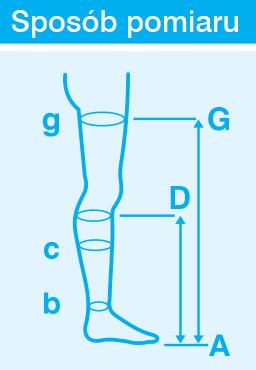 Veera Forte ccl.1 Podkolanówki długie otwarte palce / czarny